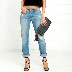 BlankNYC The Tomboy distressed straight leg jeans